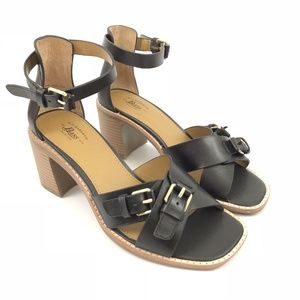 GH Bass Reese Womens Black Strappy Heels Size 6